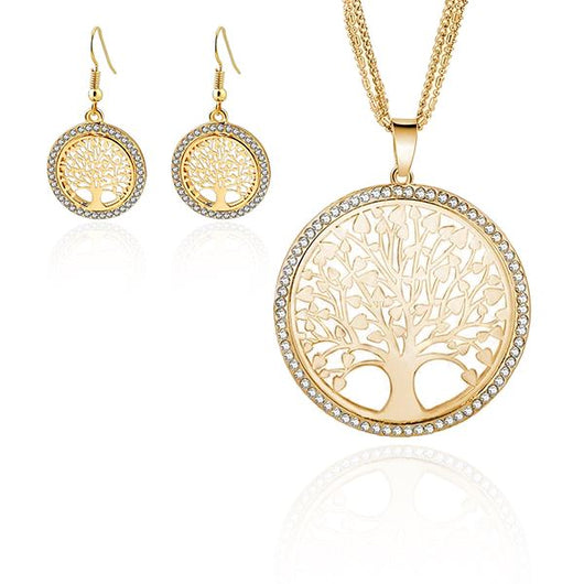 Tree of life Necklace and Earrings Set