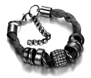 Entwined Black Metal Bracelet