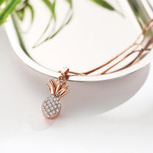 Load image into Gallery viewer, Rose Gold Pineapple Necklace