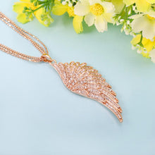 Load image into Gallery viewer, Crystal Wing Necklace
