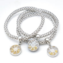 Load image into Gallery viewer, SILVER DAISY CHARM BRACELETS