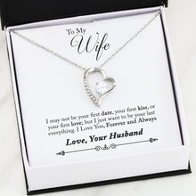"Load image into Gallery viewer, ""To My Wife"" Glimmering Heart Pendant Necklace Gift Set"