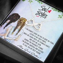 "Load image into Gallery viewer, ""Soul Sister"" Infinite Hearts Pendant Necklace"