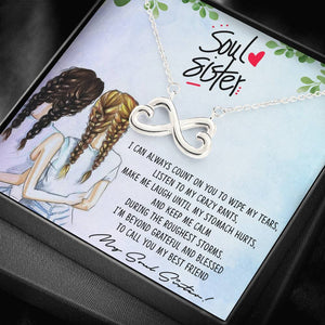 """Soul Sister"" Infinite Hearts Pendant Necklace"