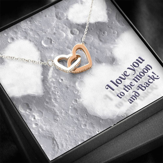 """TO THE MOON"" JOINED HEARTS NECKLACE"