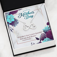 "Load image into Gallery viewer, 2 Sets of ""Happy Mother's Day"" Infinite Hearts Pendant Necklace"