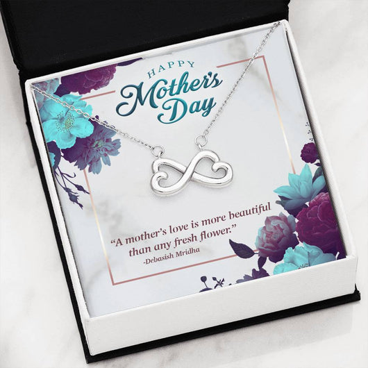 "2 Sets of ""Happy Mother's Day"" Infinite Hearts Pendant Necklace"