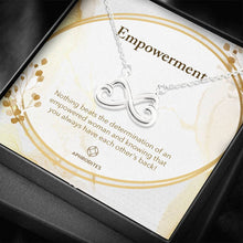"Load image into Gallery viewer, ""Empowerment"" Infinite Hearts Pendant Necklace"