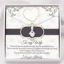 "Load image into Gallery viewer, ""To My Wife"" Forever Crystal Necklace"