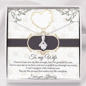 """To My Wife"" Forever Crystal Necklace"