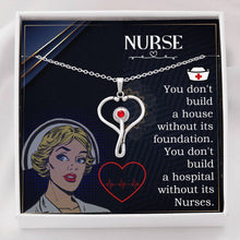 Load image into Gallery viewer, Nurse Love Stethescope Necklace