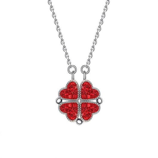 3 Sets of Magnetic Hearts Clover Necklace