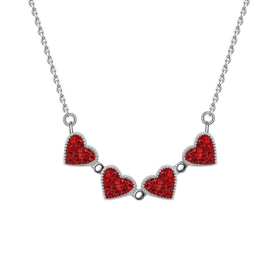 Magic in a Box - Magnetic Hearts Clover Necklace