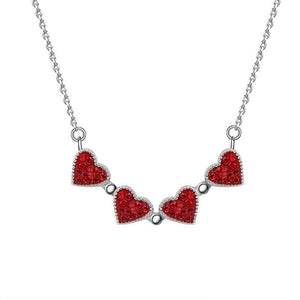 Magic in a Box - 2 Sets of Magnetic Hearts Clover Necklace