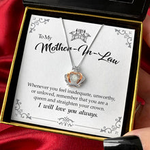 Load image into Gallery viewer, To My Mother-in-Law - Luxe Crown Necklace Gift Set