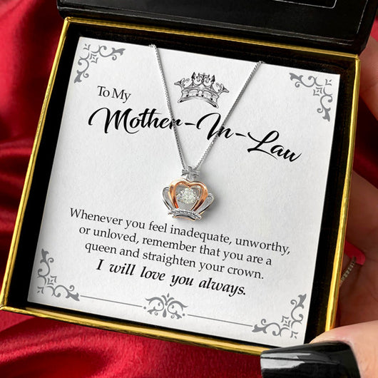 To My Mother-in-Law - Luxe Crown Necklace Gift Set