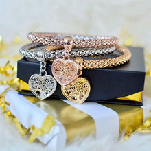 "Load image into Gallery viewer, Holiday Gift Wrap - ""Tree of Life"" Heart Edition Charm Bracelets"