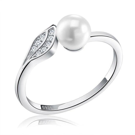 Pearl Wave Sterling Silver Ring