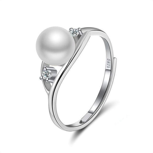 Pearl and Glimmer Sterling Silver Ring