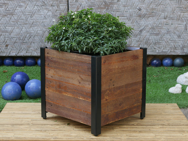 large tall square planter windsor black and root stock front company products