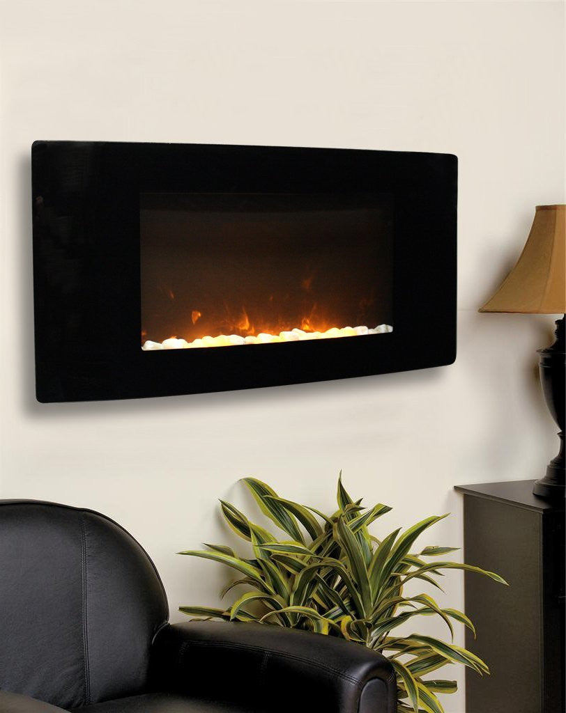 Paramount Barcelona Curved Wall Mount Electric Fireplace