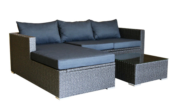 Patioflare Emmett Sofa Sectional with Storage - Dark Grey with Grey Cushions  sc 1 st  Paramountathome - Shopify : emmett sectional - Sectionals, Sofas & Couches