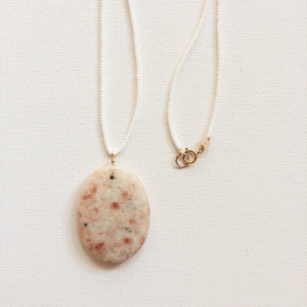 rose quartz Santa Fe necklace