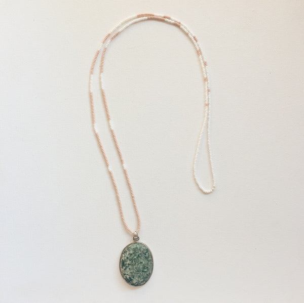 tree agate Santa Fe necklace