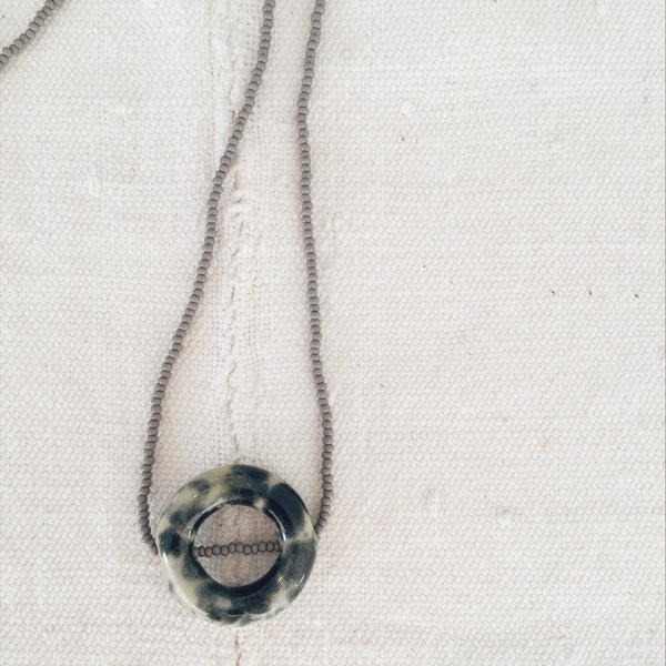 circle ceramic necklace