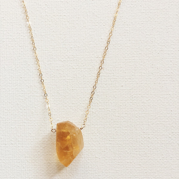 minimalist Citrine Necklace