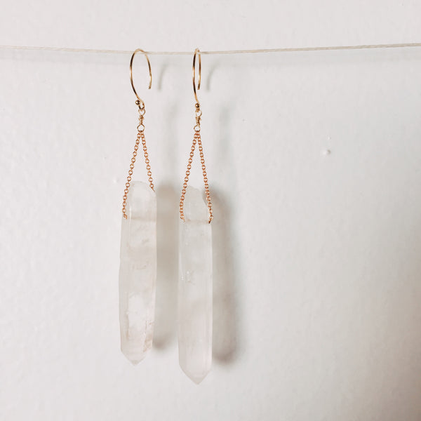 healer crystal earrings