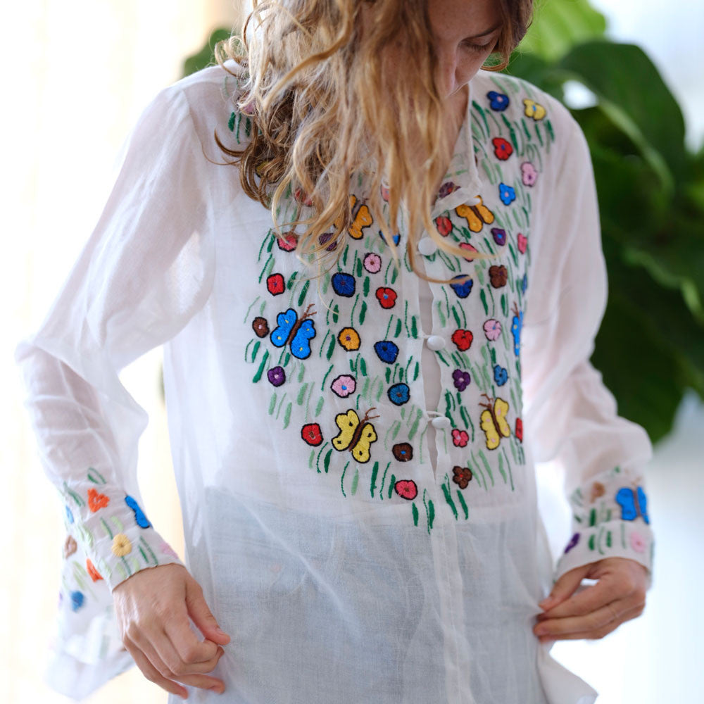 1970s embroidered tunic