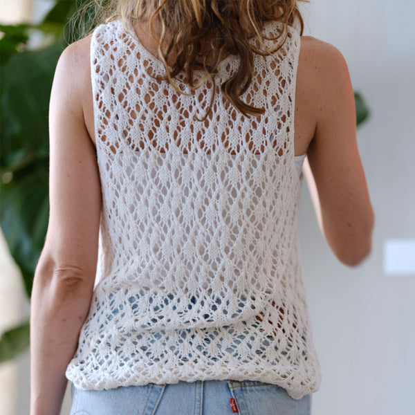 delicate cotton knit tank