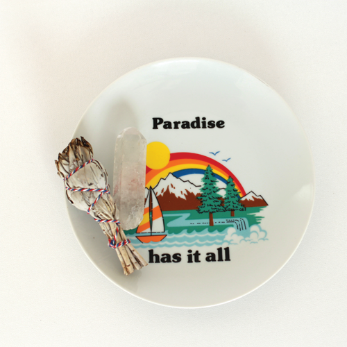 1970s paradise plate