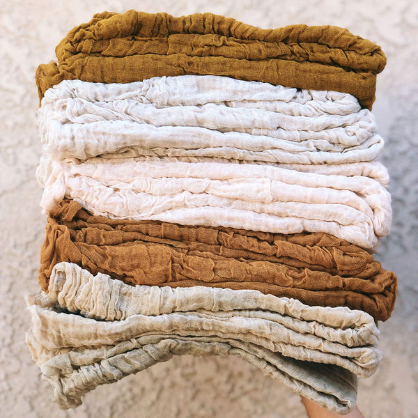 classic natural cotton scarf