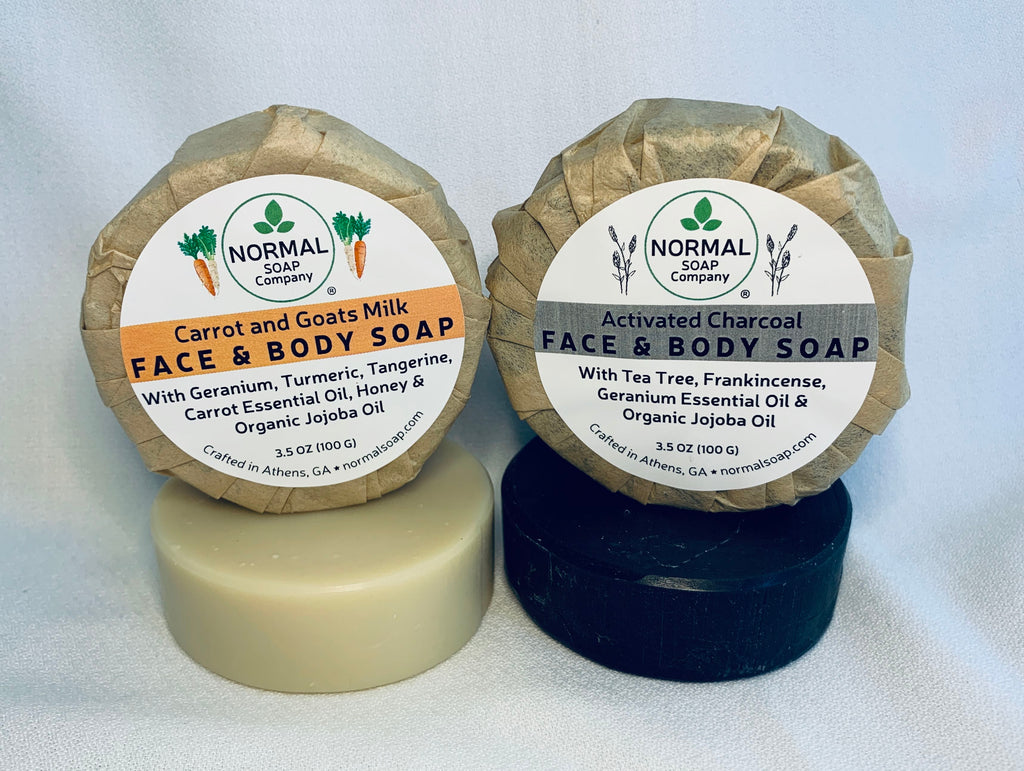 Carrot Goats Milk & Activated Charcoal Face Soap NEW!