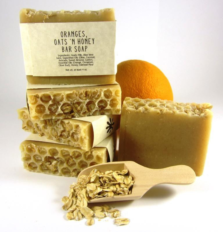 Comforting Oranges, Oats 'N Honey Soap