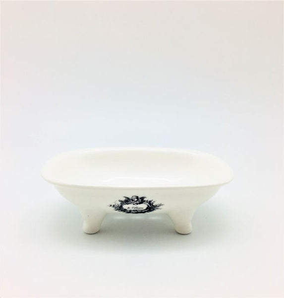 Vintage Claw Foot Ceramic Tub Soap Dish - Le Bain
