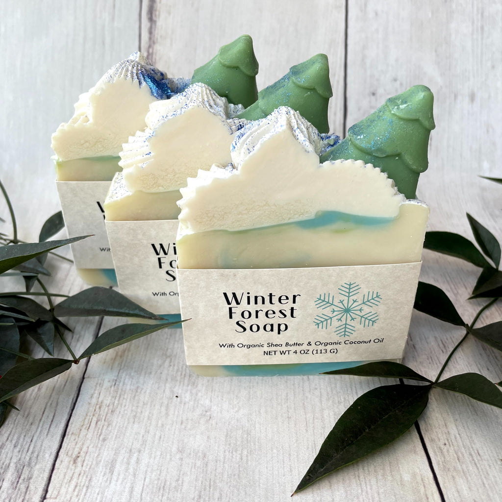 Winter Forest Handmade Soap - Seasonal Favorite!