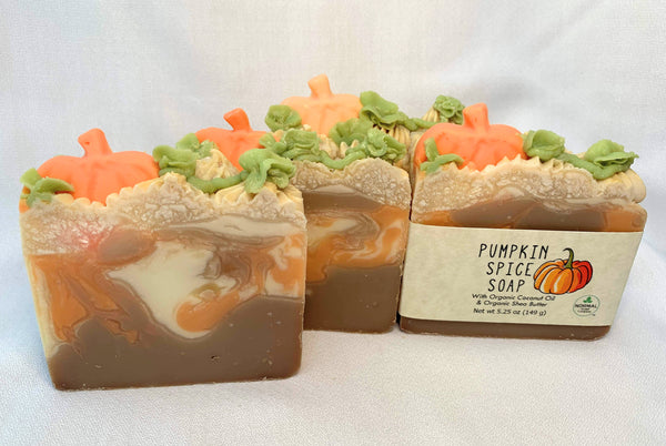 Pumpkin Spice Natural Soap - Organic Shea Butter