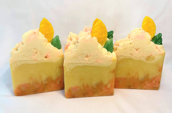 Lemon Sunshine Premium Handmade Soap with Organic Shea Butter and Pure Essential Oils