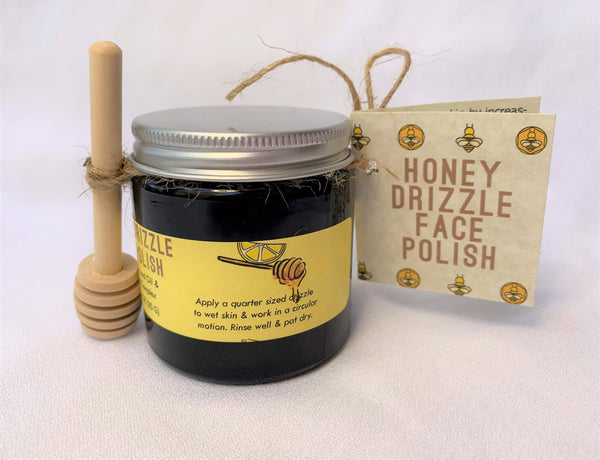Honey Drizzle Face Polish 4 oz with Honey Dipper