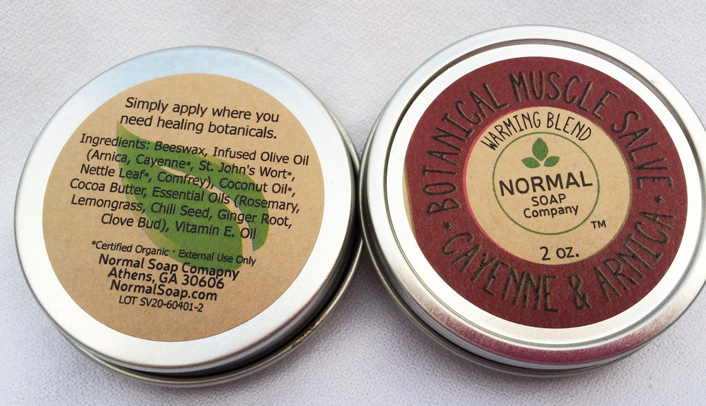 Botanical Muscle Salve featuring Organic Botanicals infused in Beneficial  Oils