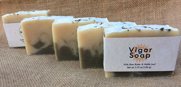Vigor Essential Oil Soap with Organic Aloe Vera, Nettles, and Shea Butter
