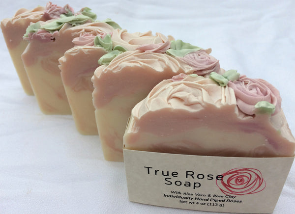 True Rose Handmade Soap with Aloe Vera and Grapeseed Oil