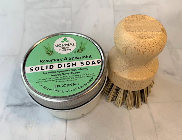 Solid Dish Soap - Eco-Certified Ingredients, Highly Concentrated