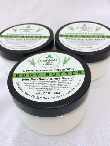 Body Butter featuring Organic Shea Butter and Rice Bran Oil