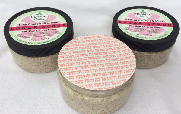 Creamy Sugar Scrub 8 oz featuring Shea and Cocoa Butter, Raw Demerara Sugar and Essential Oils