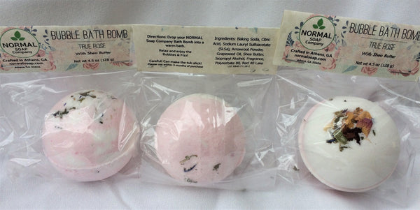 True Rose Bath Bomb Fizzy w Shea Butter - BIG