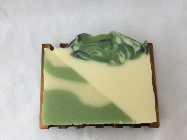 Garden Cucumber Soap with Rice Bran Oil and Organic Aloe Vera